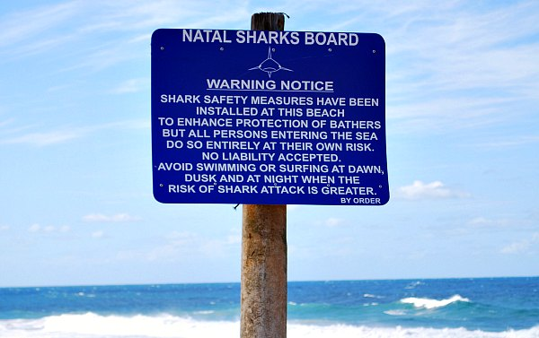 Durban Beaches Shark Sign