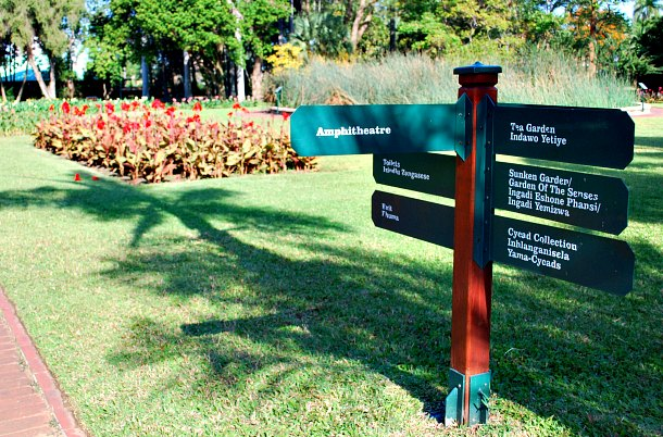 Durban Botanic Gardens Signpost