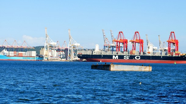 Durban Harbour Container Ships