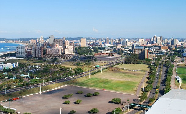 Durban skyline from the SkyCar