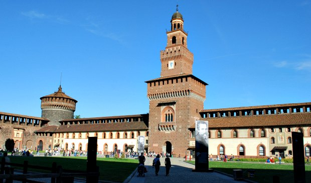 Milan Castello Sforzesco interior