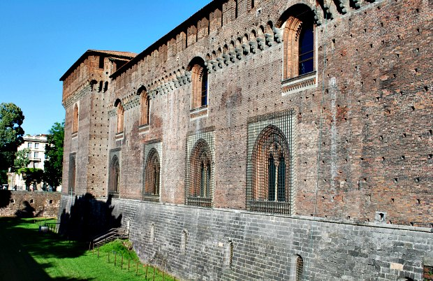 Milan Castello Sforzesco rear