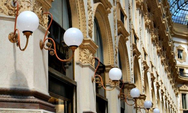 Milan Vittorio Emanuele Galleria lights