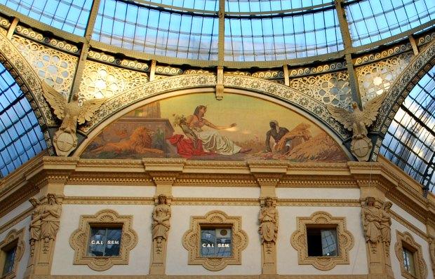 Milan Galleria Vittorio Emanuele painting