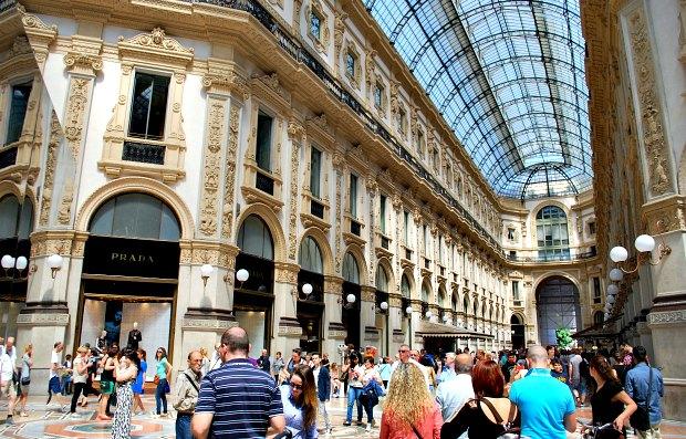 Milan Galleria Vittorio Emanuele shops