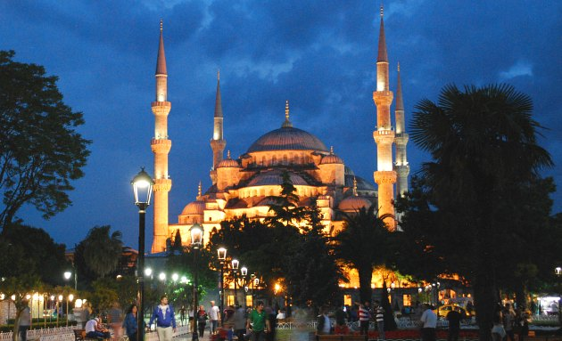 Istanbul Blue Mosque night