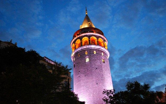 Istanbul Galata Tower Night