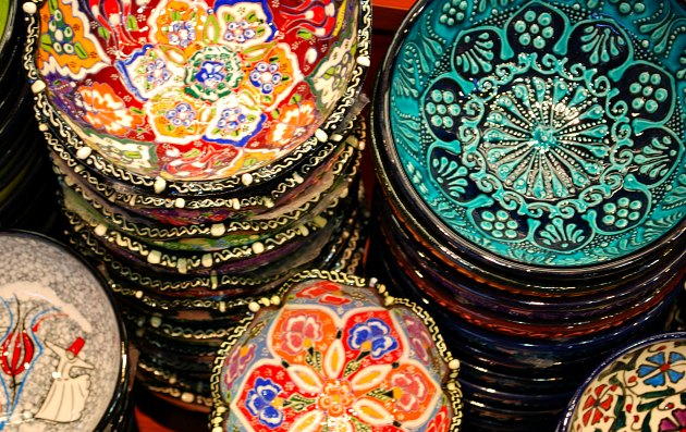 Istanbul Grand Bazaar Painted Bowls