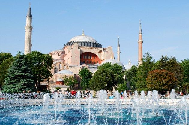 Istanbul Hagia Sophia With Fountains