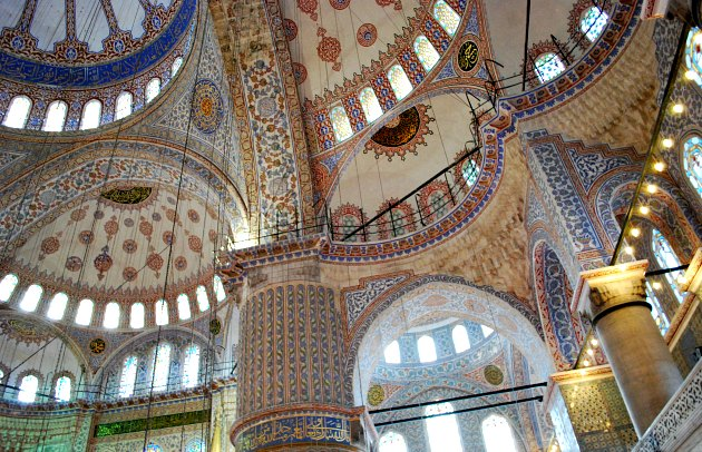 Istanbul Blue Mosque Ceilings