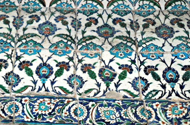 Istanbul Blue Mosque Tiles Close Up