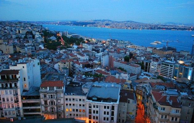 Istanbul Galata Tower Bosphorus view