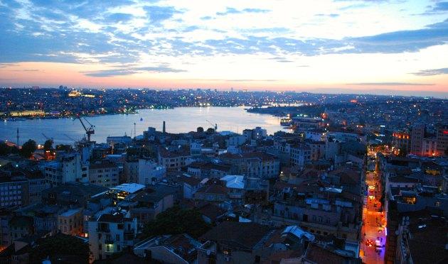 Istanbul Galata Tower Golden Horn