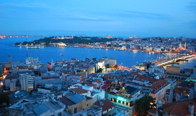 Istanbul Galata Tower Old City View