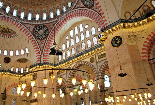Istanbul Süleymaniye Mosque lights