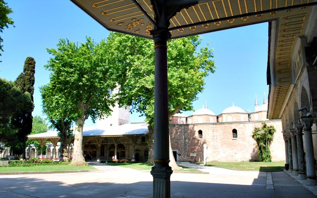 Istanbul Topkapi Palace Courtyard wide