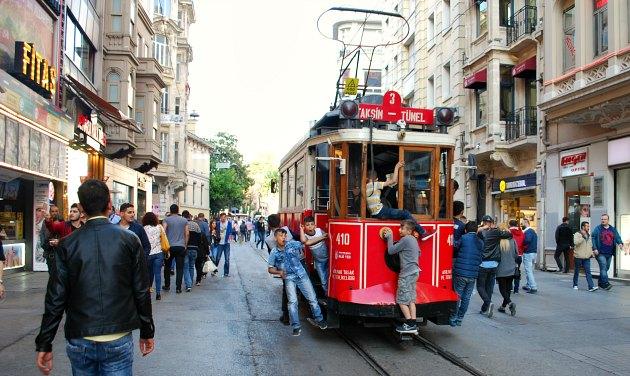 Istanbul Taksim Square Historic Tram
