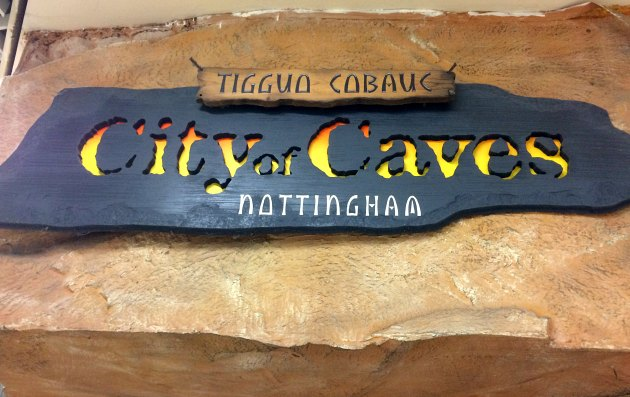 Nottingham City Of Caves Sign