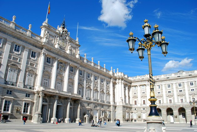 Madrid Royal Palace With Lamp