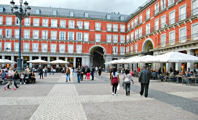 Madrid Plaza Mayor Cafes