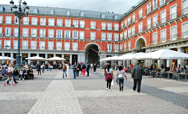 Madrid Plaza Mayor Cafes