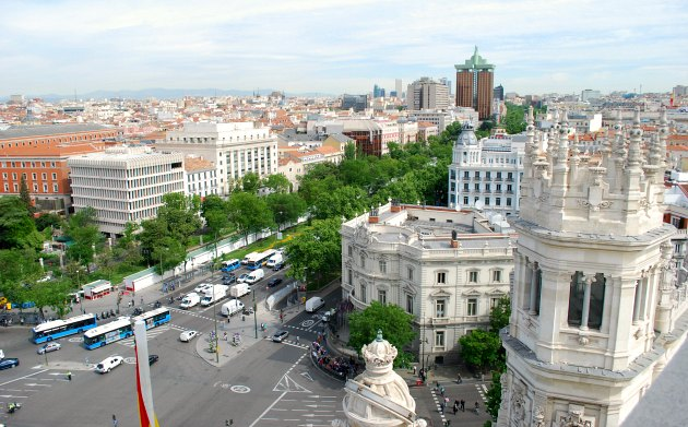 Madrid City Hall Alternate Roof View