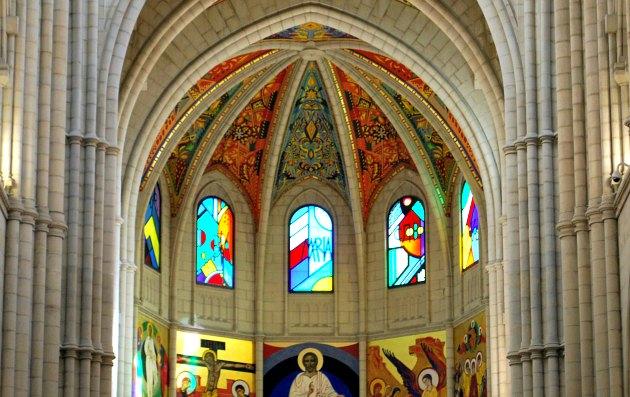 Madrid Santa Maria Altar Windows