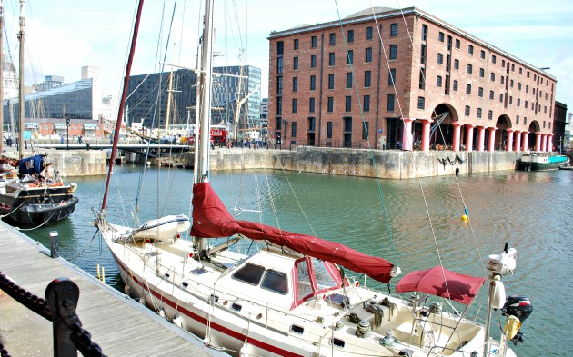 Liverpool Albert Dock with Boat