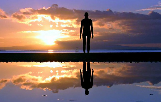 Liverpool Anthony Gormley Another Place Sunset