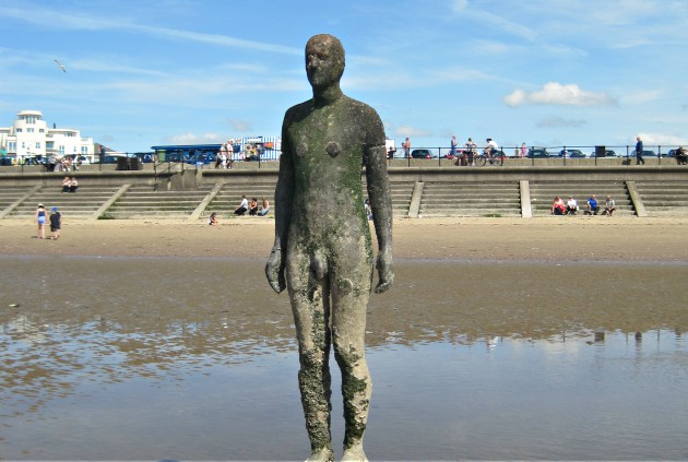 Liverpool Gormley Statue and Beach