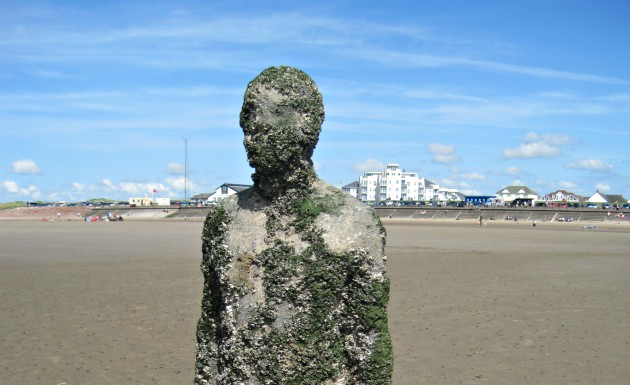 Liverpool Gormley Statue close