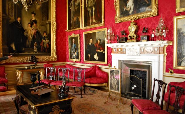 Oxford Blenheim Palace Red Room