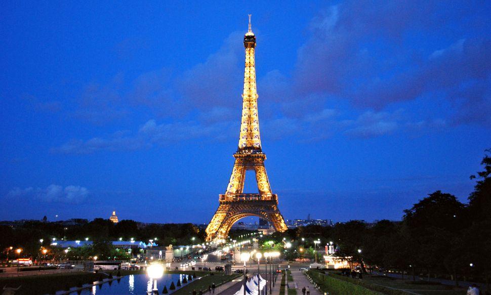 Paris Eiffel Tower Night Large