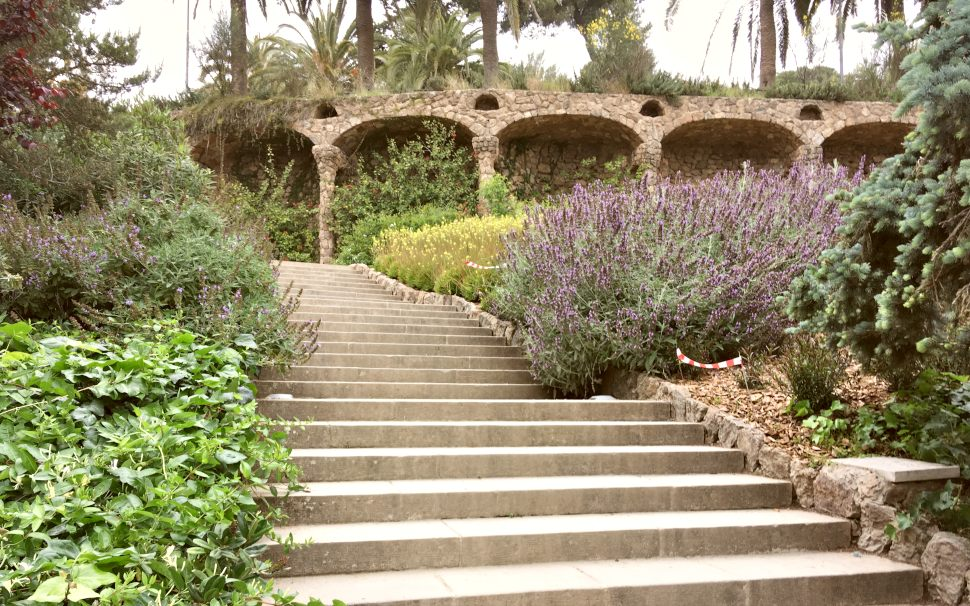 Barcelona Parc Guell steps