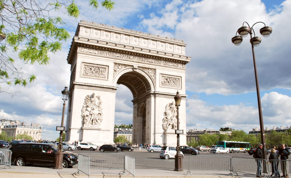 Paris Arc De Triomphe Day New