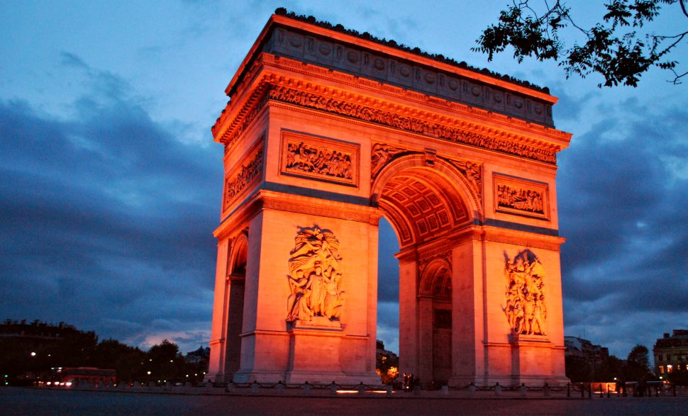 Paris Arc De Triomphe Night New