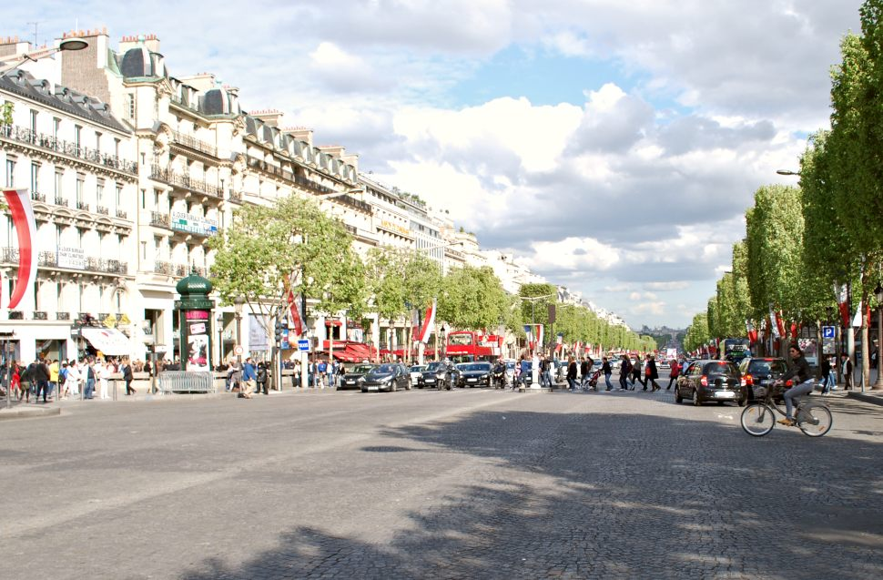 Paris Champs Elysees Crossing New