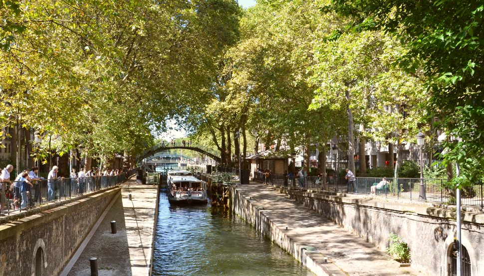 Paris Canal St Martin Boat New