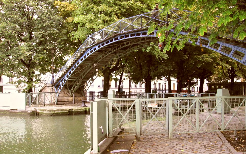 Paris Canal St Martin Foot Bridge New