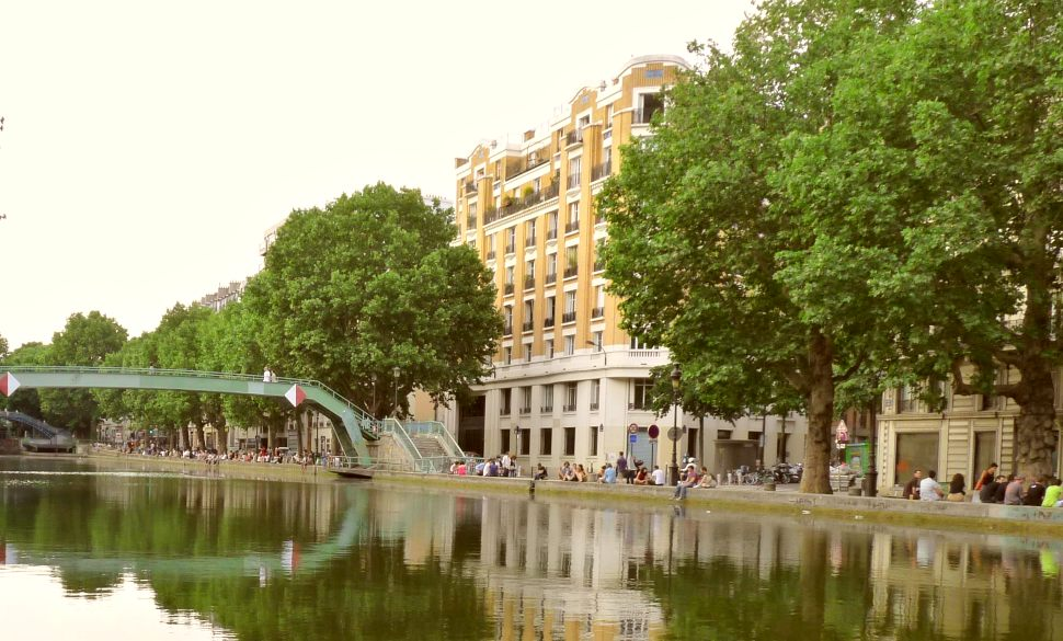 Paris Canal St Martin Wide New