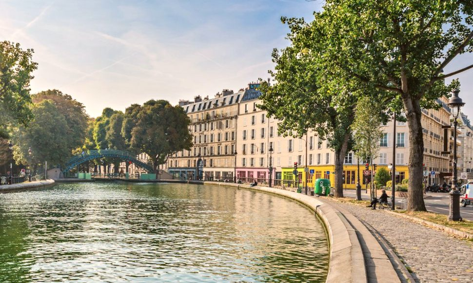 Paris Canal St Martin bend