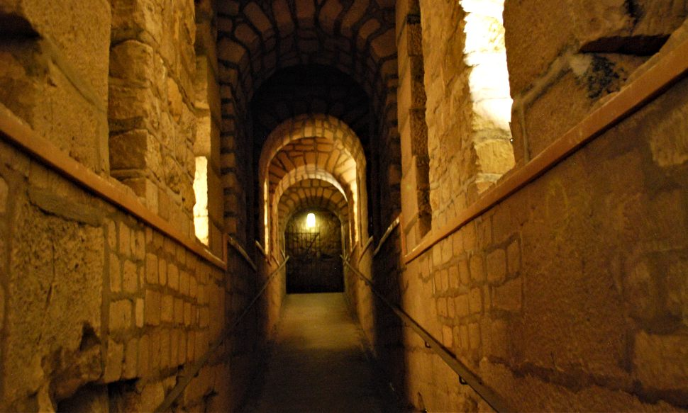 Paris Catacombs tunnel New
