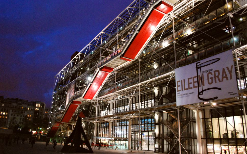 Paris Centre Pompidou Night New