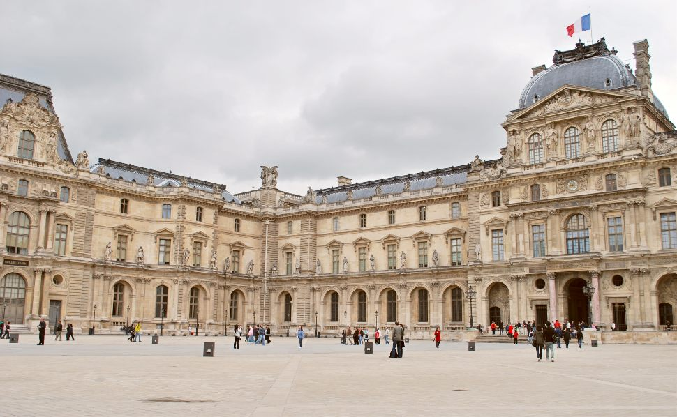 Paris Louvre Exterior New