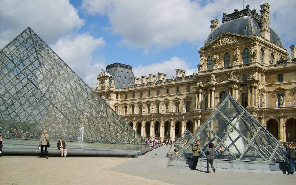 Paris Louvre Pyramids New