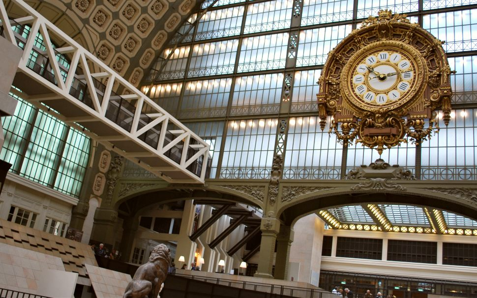 Paris Musee D'Orsay Interior Clock