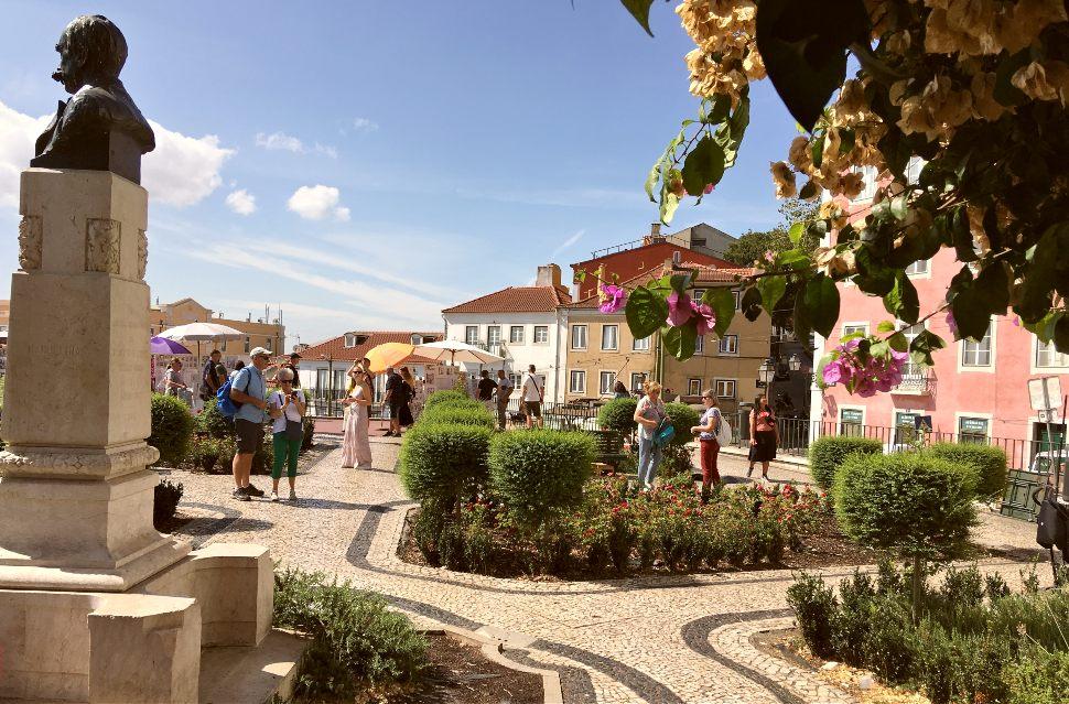 Lisbon gardens in Alfama